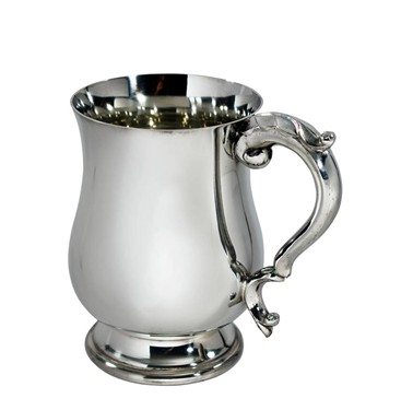 Half Pint Georgian pewter tankard