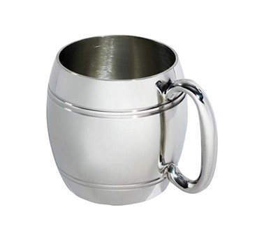 Half Pint Barrel Pewter Tankard