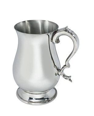 Two Pint Georgian Pewter Tankard