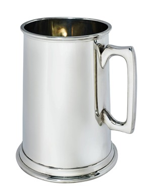 Plain giant 3 PINT Pewter Tankard