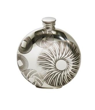 6oz round millstones flask