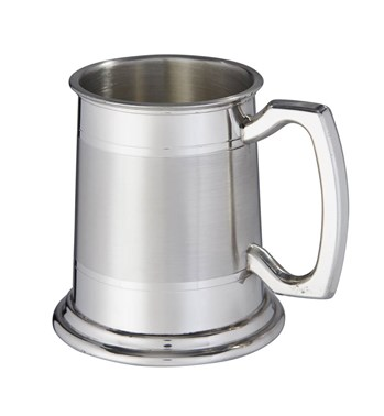 Half Pint Standard Double Lined Part Satin pewter tankard