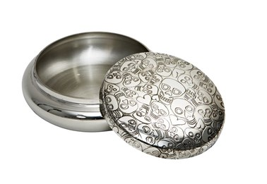Love Skull Pewter Trinket Box