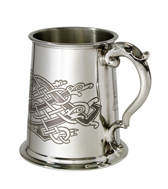 Celtic Birds 1 pint pewter Tankard