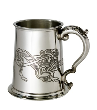 Celtic Lion 1 Pint Pewter Tankard