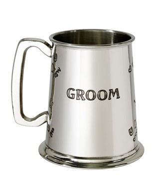 Groom 1 pint pewter Tankard