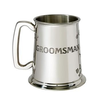 Groomsman 1 pint pewter Tankard