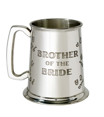 Brother of the Bride 1 pint pewter Tankard