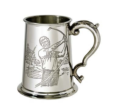 Golf Scene 1 pint pewter Tankard