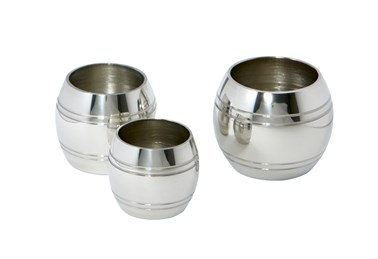 Set of Three Pewter Barrel Measures