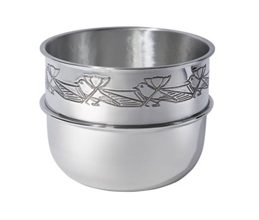 Knox pewter birdy bowl