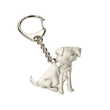 Pewter Guide Dog Keyring in support of The Guide Dogs for the Blind Association