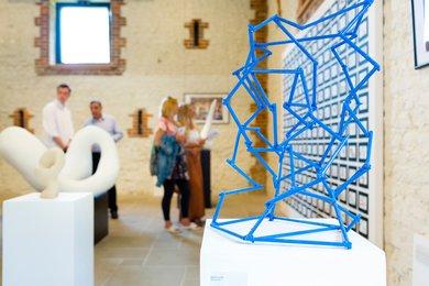 Blue sculpture at Visual Arts Summer Show 2017