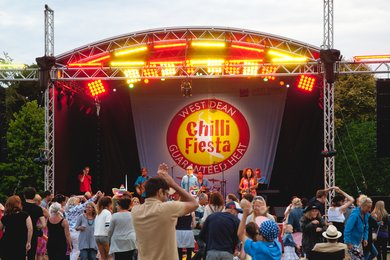 West Dean Chilli Fiesta Stage