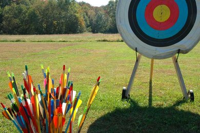 Archery on away days at West Dean College, West Sussex