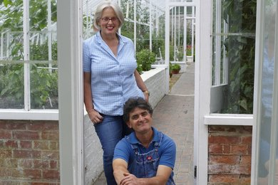 Head Gardeners Jim and Sarah at West Dean College