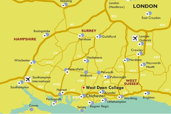 West Dean College Map And Directions - Find us map