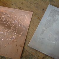engraving with Wayne Parrott