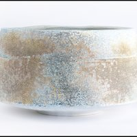 Jack Doherty grey blue ribbed bowl