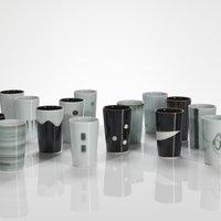 Chris Keenan porcelain beakers credit Michael Harvey