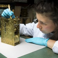 Student working on a Clock at West Dean College