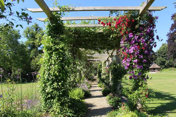 The Glorious Summer Sunshine Highlighting The Beauty Of The Edwardian  Pergola At West Dean Gardens