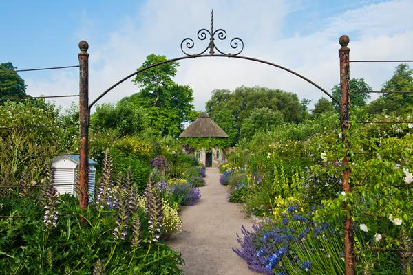 The Wonderful Walled Gardens With A View Of The Apple Store At West Dean  Gardens.