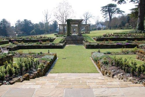 Award-winning Sunken Garden at West Dean Gardens near Chichester