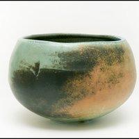 Jack Doherty orange green round bowl