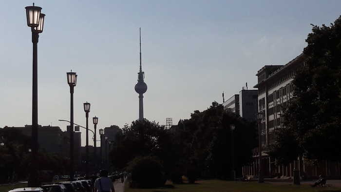 Alexanderplatz Sonnenuntergang