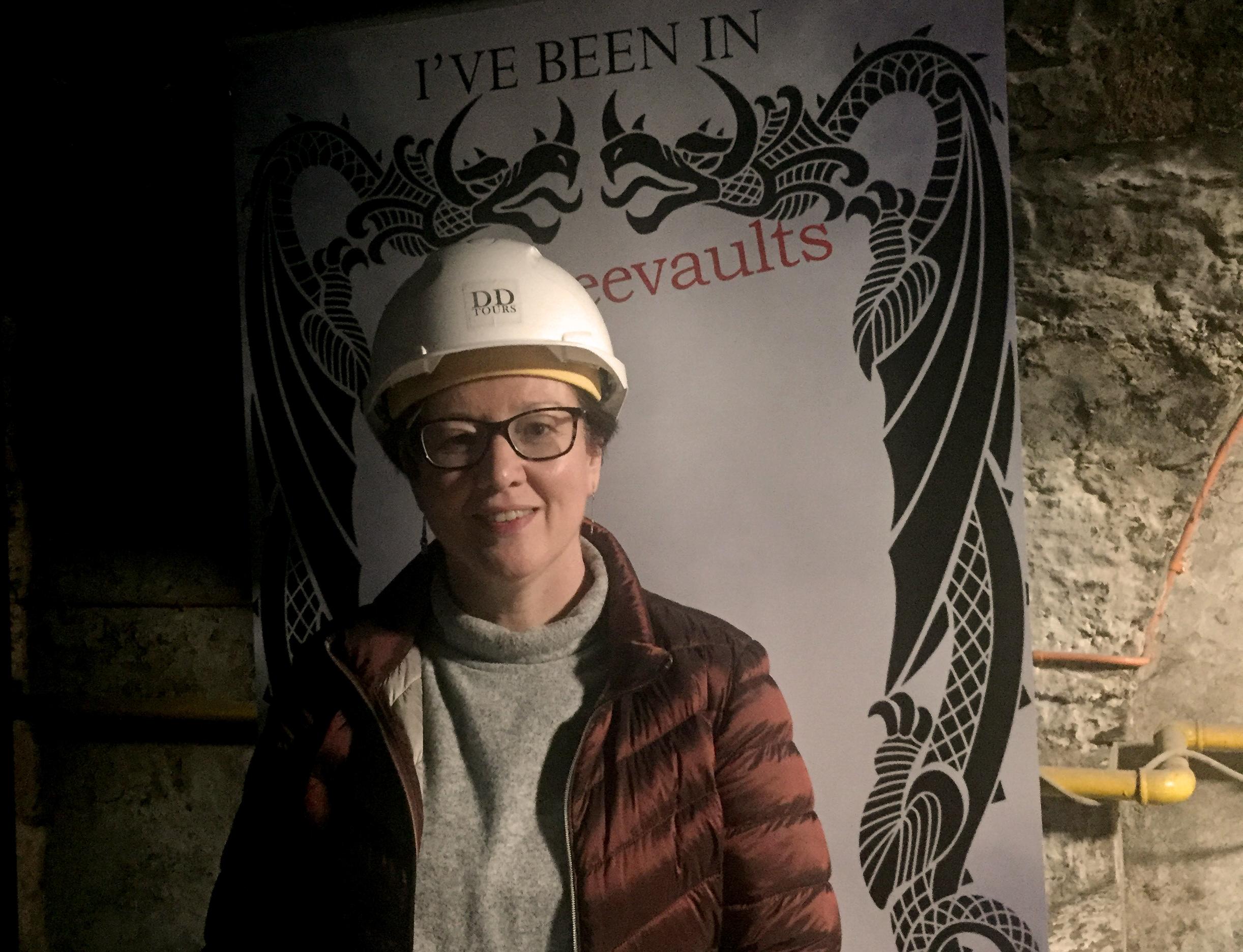 Margaret on the Dark Dundee tour