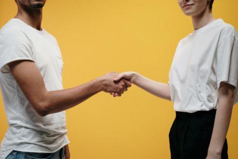 Hand Shake Between Man And Woman