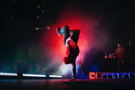 Breakdancer On Stage