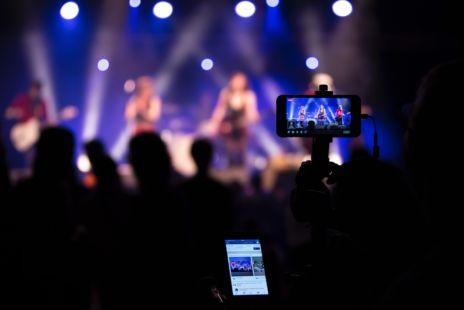 Smartphones Recording Concert
