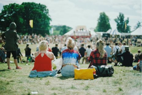 Three Women At Outdoor Festival