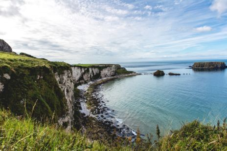 View Of Sea Cliffs In Northern Ireland