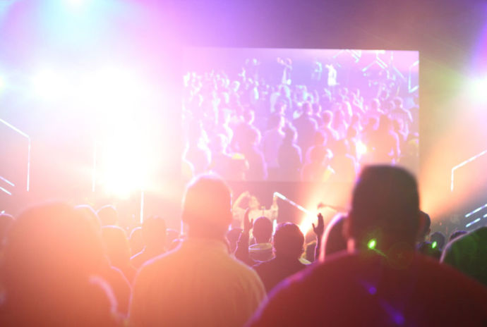 Blurred Photo Of An Audience At A Music Event