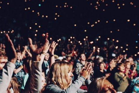 Audiences standing and clapping