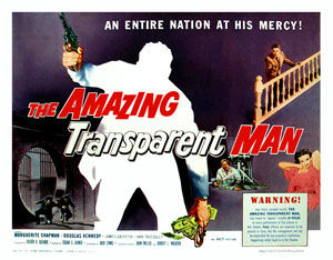 The Amazing Transparent Man Cover