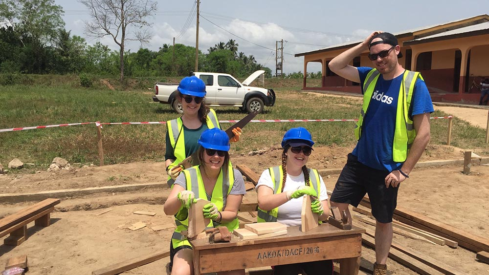 AECOM volunteering Blueprint Travel