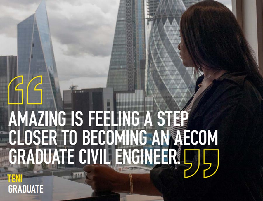 Teni is a graduate engineer with AECOM