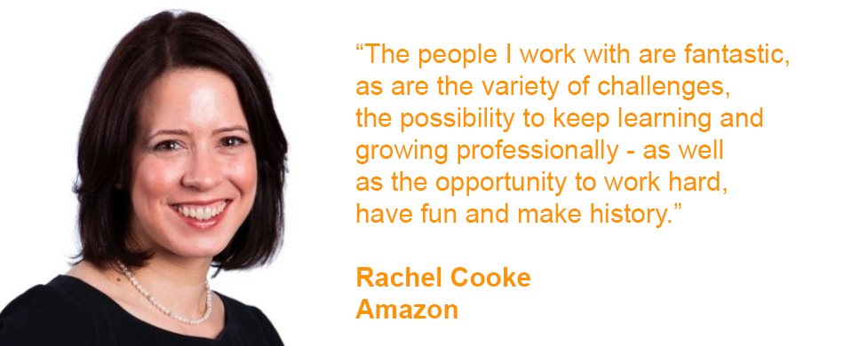 Rachel Cooke works at Amazon