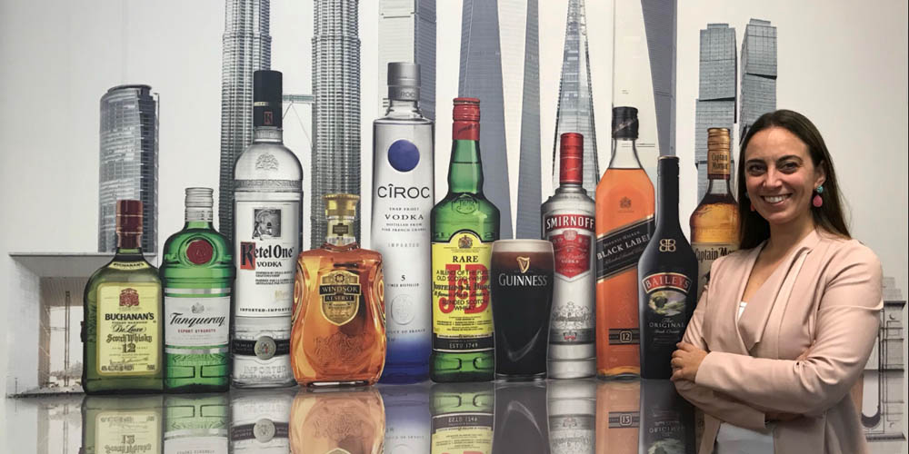 Diageo's Angela Lanzolla is in sales