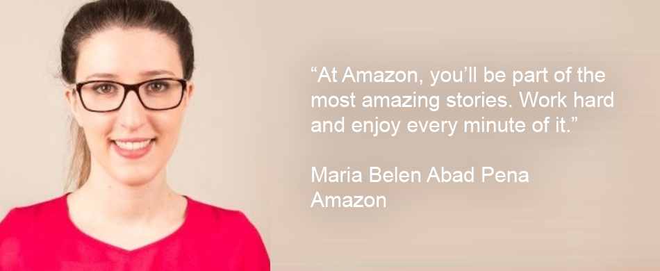 Maria works in an Operations job at Amazon