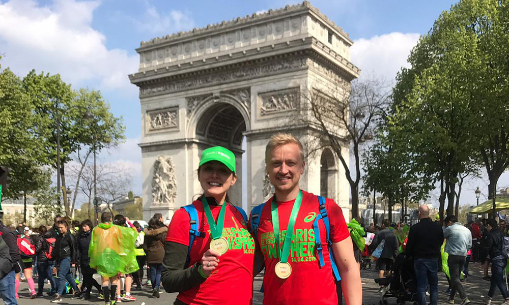 Schneider Electric - Ben at Paris Marathon