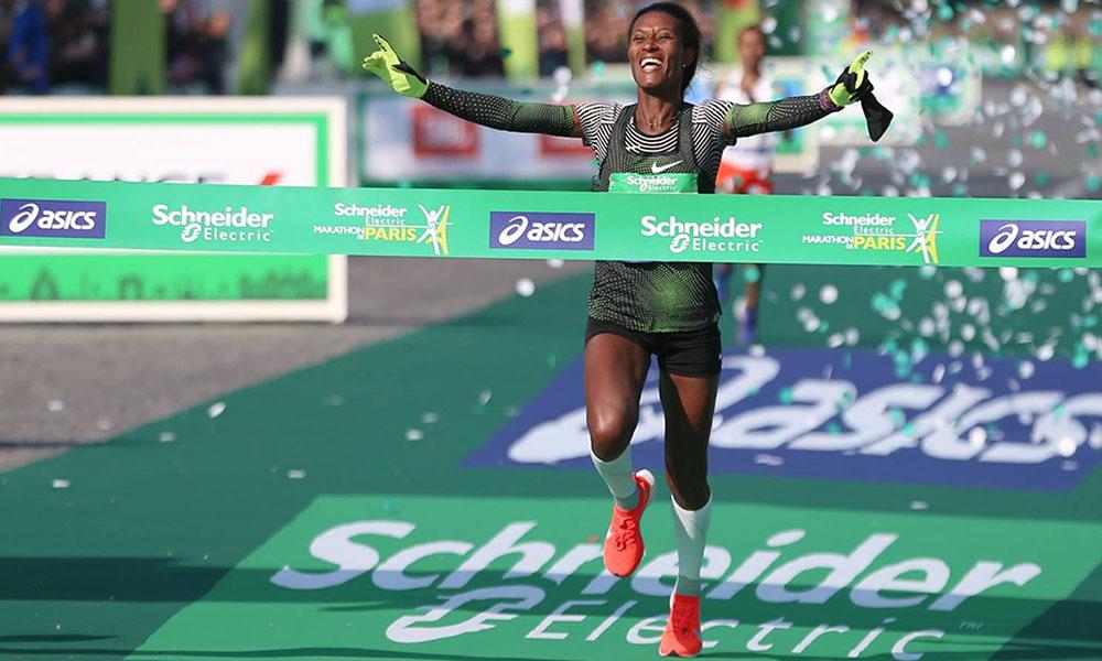 Schneider Electric - Gelete Burka - Paris Marathon
