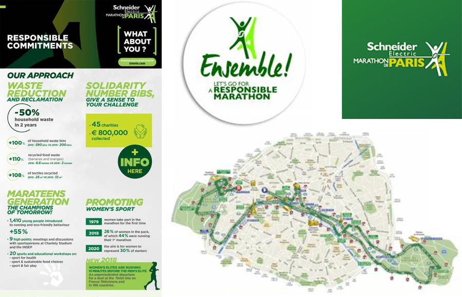 Schneider Electric - Paris Marathon is eco-friendly
