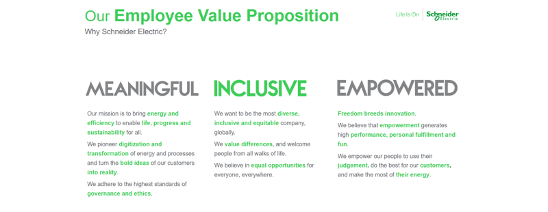 Schneider Electric work culture