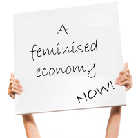 How do we achieve a feminine economy?