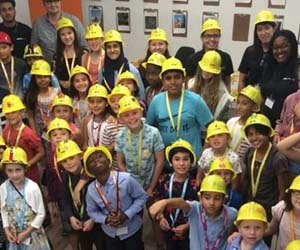 AECOM welcomes children to London campus
